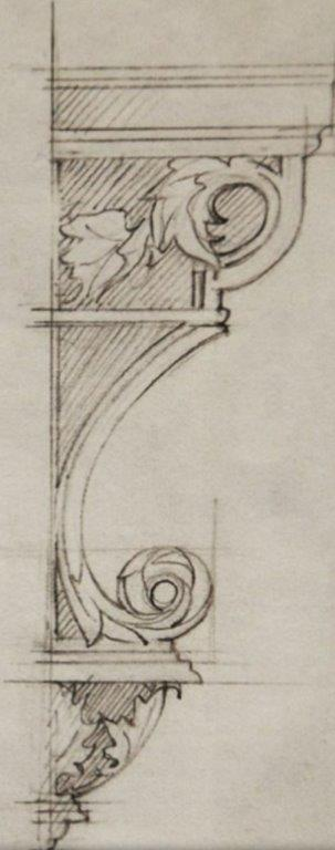 Conservation sketch for period mouldings