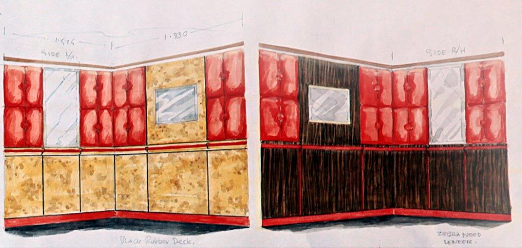Sensuous lift interior for night club